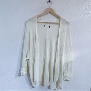 Urban Outfitters cream white open knit cardigan